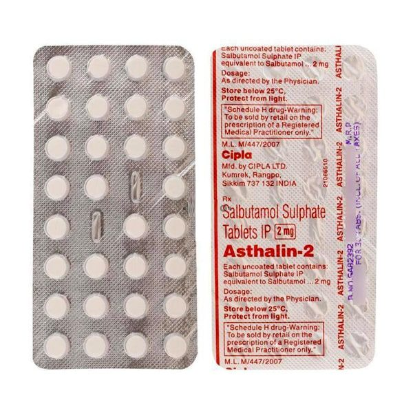 Buy Asthalin 2 Mg